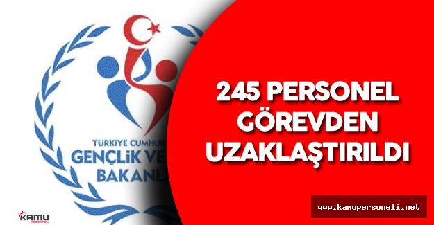 Gençlik ve Spor Bakanlığı'nda 245 Personel Görevden Alındı