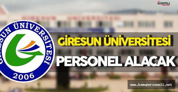 Giresun Üniversitesi Personel Alım İlanı
