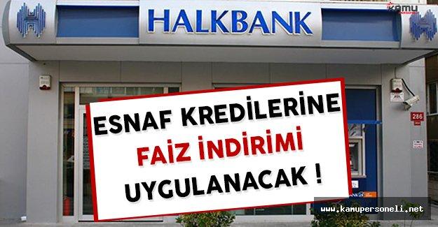 Halkbank Esnaf Kredilerine Faiz İndirimi Uygulayacak