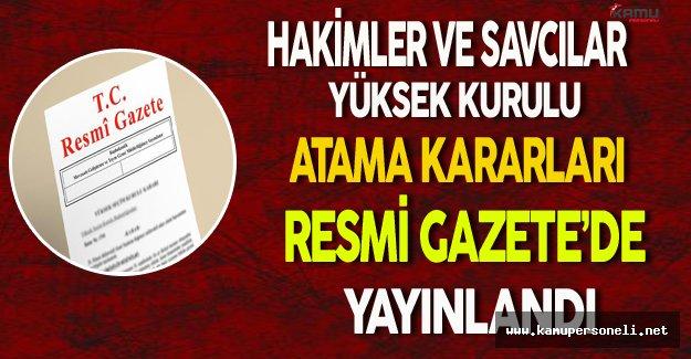 HSYK Atama Kararları Resmi Gazete'de Yayınlandı