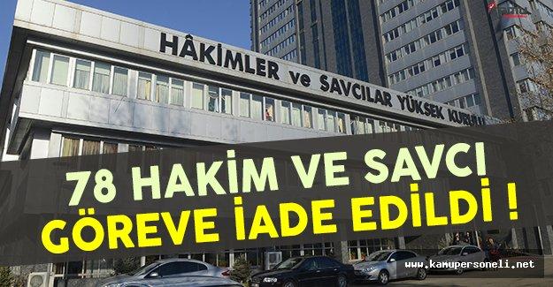 HSYK göreve iade edilen 78 hakim ve savcının listesini yayınladı