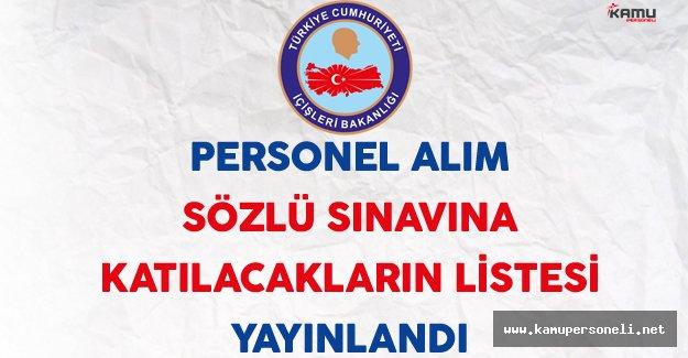 İçişleri Bakanlığı Personel Alım Sınavına Katılacak Adayların Listesi Yayınlandı