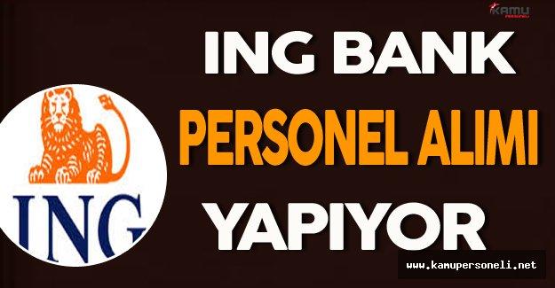 ING Bank Personel Alımı Yapıyor