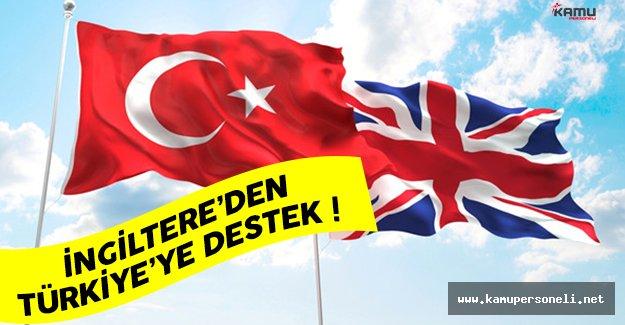İngiltere'den Türkiye'ye destek açıklaması geldi
