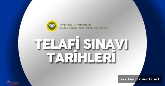 İstanbul Auzef Telafi Sınavı Tarihleri ( Auzef Ertelenen Sınav Ne Zaman Yapılacak?)