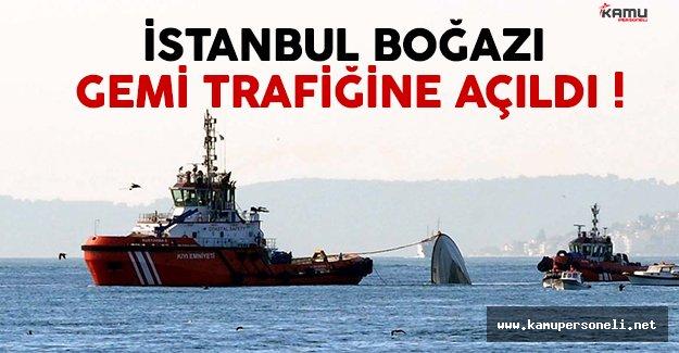 İstanbul Boğazı, gemi trafiğine tekrar açıldı