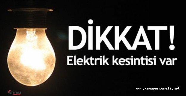 İstanbul'da Hangi İlçelere Elektrik Verilmeyecek?