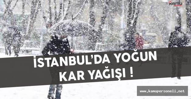 İstanbul'da Kar Yağışı Etkisini Gösteriyor