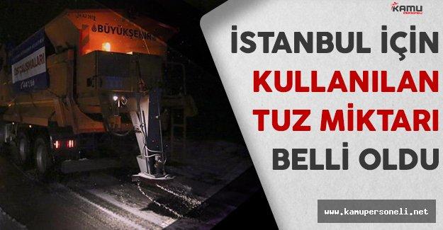 İstanbul'da Yoğun Kar Yağışı İçin Kullanılan Tuz Miktarı Belli Oldu