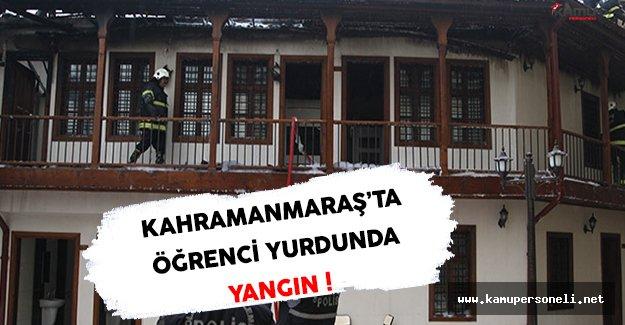 Kahramanmaraş'ta Kuran Kursu Öğrenci Yurdunda Yangın Çıktı !