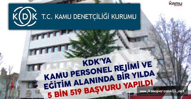 KDK'ya Kamu Personel Rejimi ve Eğitim Alanında Bir Yılda 5 Bin 519 Başvuru Yapıldı