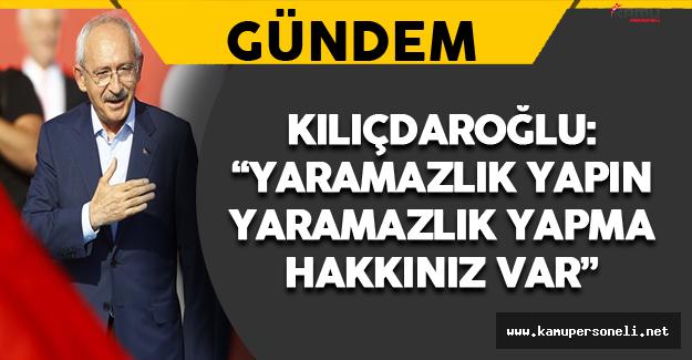 Kılıçdaroğlu'ndan Öğrencilere Yaramazlık Yapın Mesajı