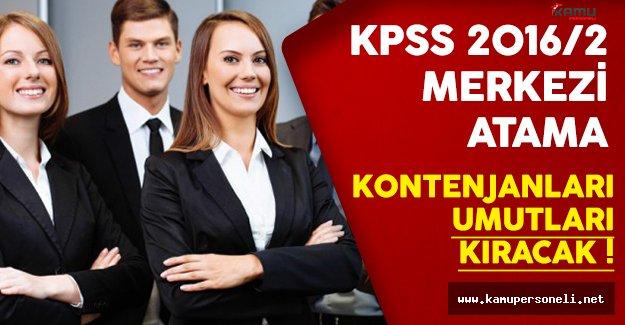 KPSS 2016/2 Merkezi Atama Kontenjanları Umutları Kıracak