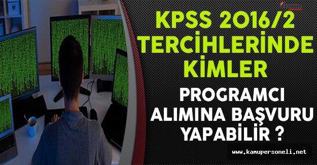 KPSS 2016/2 Tercihlerinde Kimler Programcı Alımına Başvuru Yapabilir ?