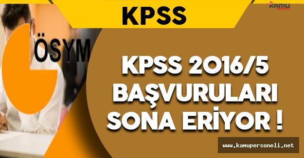 KPSS 2016/5 Başvurularında Sona Gelindi !