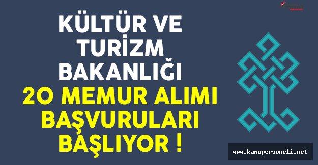 Kültür ve Turizm Bakanlığı memur alımı başvuruları başlıyor