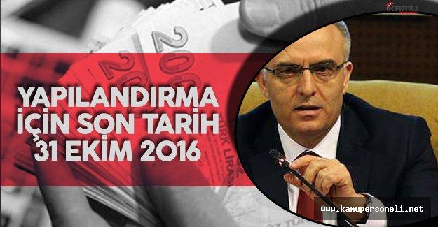 """Maliye Bakanı'ndan Borcu Olan Vatandaşa Uyarı ! """"Yapılandırma için Son Tarih 31 Ekim"""""""