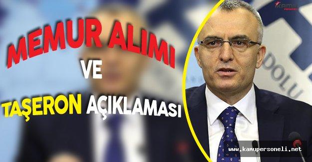 Maliye Bakanı'ndan Memur Alımı ve Taşeron Kadro Açıklaması