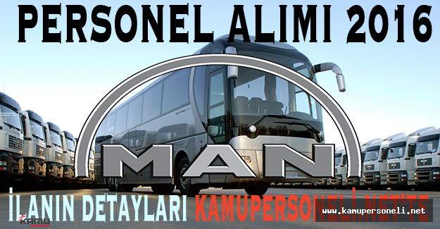 Man Türkiye Personel Alımı 2016