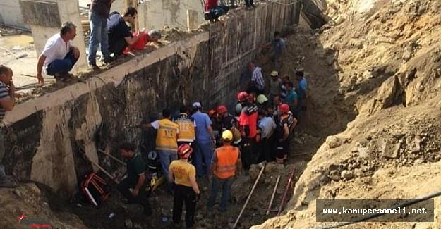 Manisa'daki Şehir Hastanesi inşaatında göçük: 3 yaralı