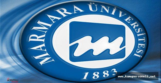 Marmara Üniversitesi Sözleşmeli Personel Alımı İlanı
