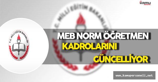 MEB Norm Öğretmen Kadrolarını Güncelliyor !