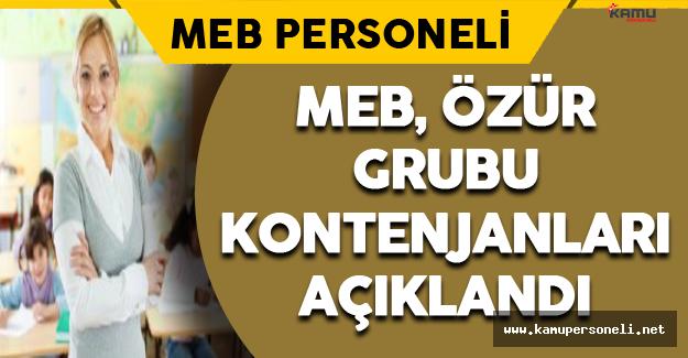 MEB, Özür Grubu Kontenjanları Açıklandı