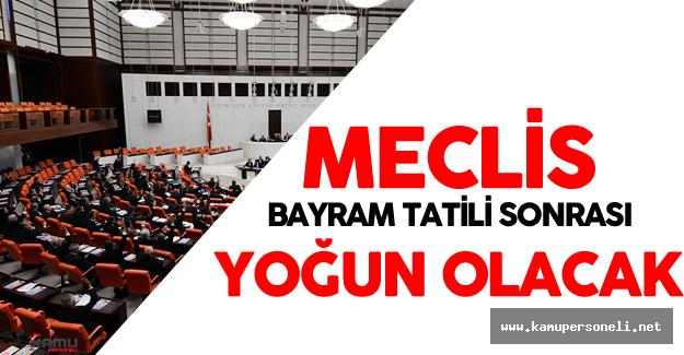 Meclis'i Bayram Tatili Sonrası Yoğun Gündem Bekliyor