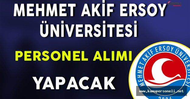 Mehmet Akif Ersoy Üniversitesi Personel Alacak