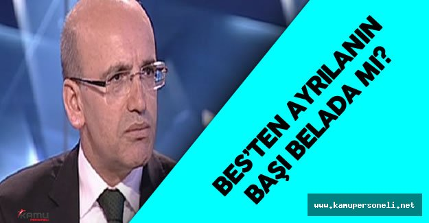 Mehmet Şimşek , BES Konusunda Merak Edilenleri Yanıtladı