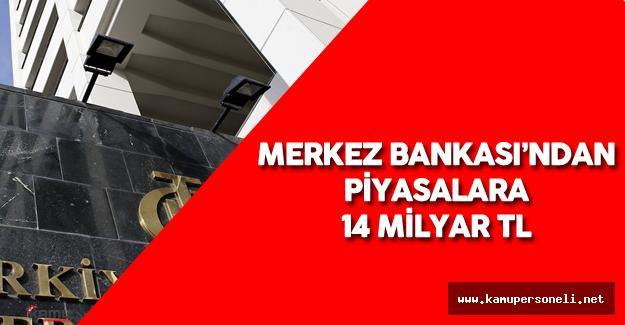 Merkez Bankası Repo İhalesiyle Piyasaya 14 Milyar Lira Verdi