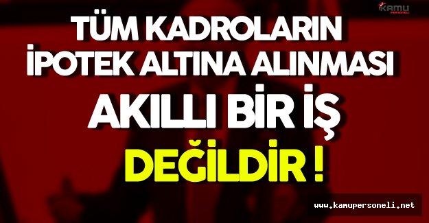 MHP Bursa Milletvekili Bütün Kadroların İpotek Altına Alınması Hakkında Konuştu