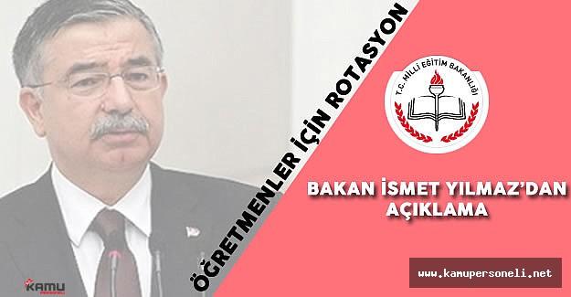 Milli Eğitim Bakanı'ndan Öğretmenler için Rotasyon Açıklaması