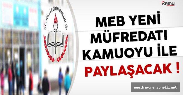 Milli Eğitim Bakanlığı Yeni Müfredatı Kamuoyu İle Paylaşacak