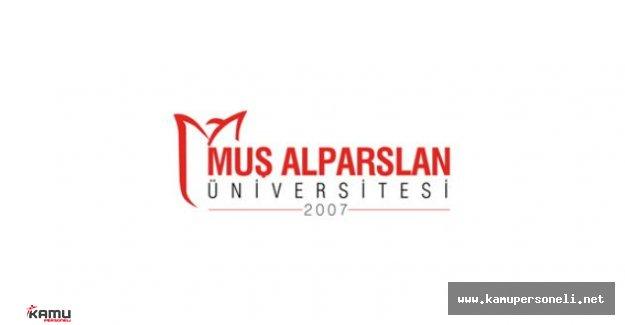 Muş Alparslan Üniversitesi Akademik Personel Alımı İlanı
