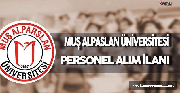 Muş Alpaslan Üniversitesi Personel Alım İlanı