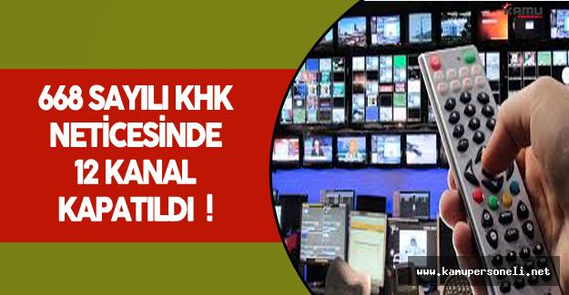 OHAL Kapsamında 12 Televizyon Kanalı Kapatıldı