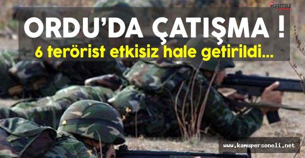 Ordu'da Çıkan Çatışmalarda 6 Terörist Etkisiz Hale Getirildi