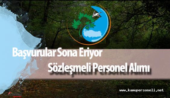 Orman ve Su İşleri Bakanlığı Personel Alımı Başvurular Sona Eriyor