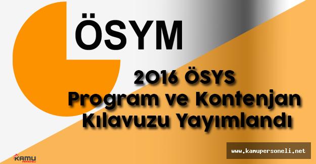 ÖSYM 2016 Yükseköğretim Programları ve Kontenjanları Kılavuzunu Yayınladı