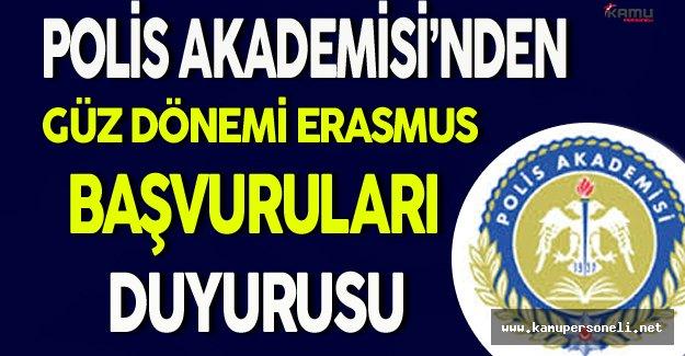Polis Akademisi Güz Dönemi Erasmus Başvuruları Başladı !