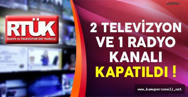 RTÜK, Uşak'ta 1 Televizyon ve 2 Radyoyu Kapattı !