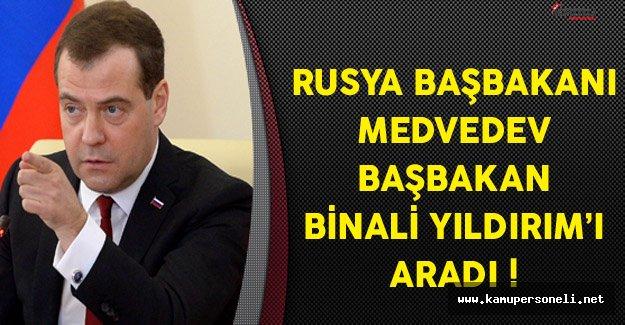 Rusya Başbakanı Medvedev Başbakan Yıldırım'a Taziye Diledi