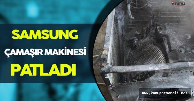 Samsung' un Şimdide Çamaşır Makinesi Patladı!