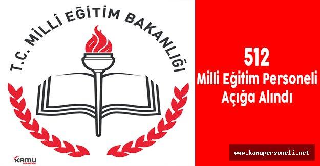 Şanlıurfa'da 512 Milli Eğitim Personeli Görevden Alındı