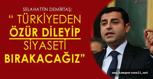 """Selahattin Demirtaş: """"Türkiye'den özür dileyip, siyaseti bırakacağız"""""""