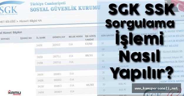 SGK SSK Sorgulama İşlemi Nasıl Yapılır?