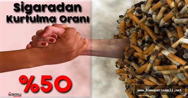 Sigaradan Kurtulma Oranı %50