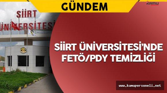 Siirt Üniversitesinde FETÖ Operasyonu