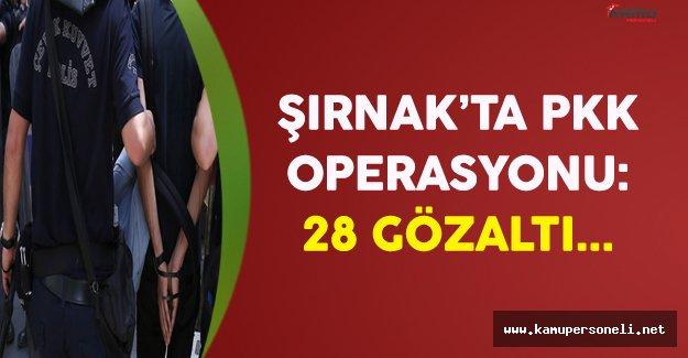 Şırnak'ta PKK Operasyonu: 28 Gözaltı !